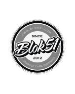 Blok 51 - Blok 51 Round Sticker - Grey and Black