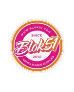 Blok 51 - Blok 51 Round Sticker - Pink and Orange
