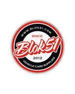 Blok 51 - Blok 51 Round Sticker - Red and Black