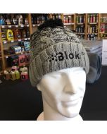Blok 51 - Black And Grey Bobble Hat - Fleece Lined