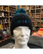 Blok 51 - Teal Green And Navy Bobble Hat - Fleece Lined