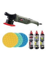 Chemical Guys Torq 10FX DA Machine Polisher Triple Pad and Polish Bundle