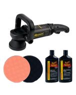 Meguiars MT320 DA Machine Polisher Lake Country Pads and Meguiars Polishes Bundle