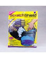 Black Plastic ScratchShield Adjustable Width Bucket Grit Guard