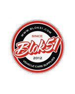 Blok 51 - Blok 51 Round Sticker - Red and Black