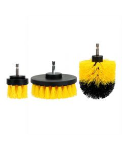 Blok 51 Carpet And Upholstery Cleaning Drill Brush Set Of 3 - Heavy Duty