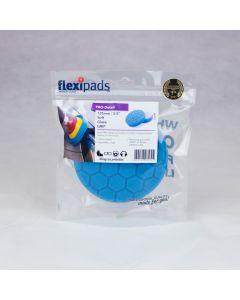 Flexipads World Class 135mm (5.5 inch) PRO-BLUE Velcro Light Clean & Glaze Pad
