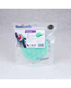 Flexipads World Class 135mm (5.5 inch) PRO-GREEN Velcro Hex Heavy Polishing Pad