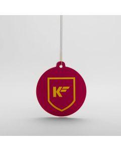 Kleen Freaks Paper Hanging Car Air Freshener - Rhubarb & Custard