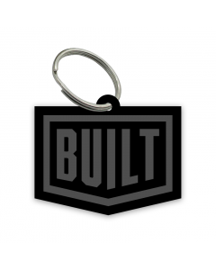 Built - Laser Etched Built Logo Keyring