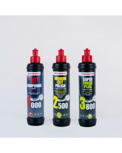 Menzerna 250ml Triple Pack - Heavy Cut 1000, Medium Cut 2500, Super Finish Plus 3800