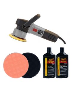 Poorboys World PB-DA900 Dual Action Machine Polisher Lake Country Pads and Meguiars Polishes Bundle