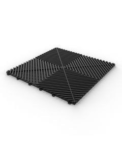 Tuff Tile Black Interlocking Garage Floor Tile 40cm x 40cm