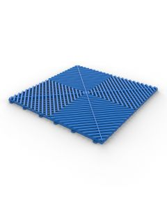 Tuff Tile Blue Interlocking Garage Floor Tile 40cm x 40cm