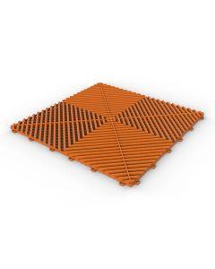 Tuff Tile Fire Orange Interlocking Garage Floor Tile 40cm x 40cm
