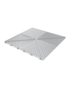 Tuff Tile Frozen Silver Interlocking Garage Floor Tile 40cm x 40cm