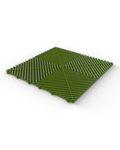 Tuff Tile Grass Green Interlocking Garage Floor Tile 40cm x 40cm