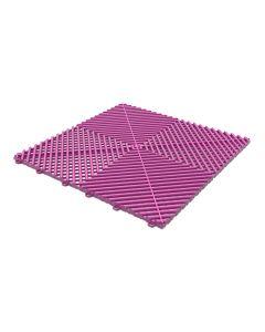 Tuff Tile Hot Pink Interlocking Garage Floor Tile 40cm x 40cm