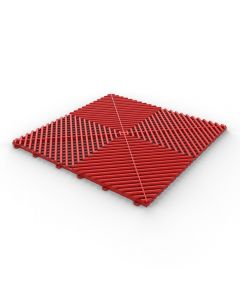 Tuff Tile Red Interlocking Garage Floor Tile 40cm x 40cm