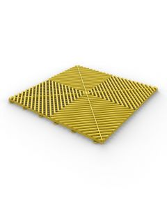 Tuff Tile Yellow Interlocking Garage Floor Tile 40cm x 40cm