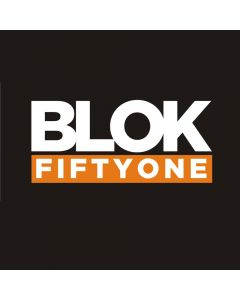 Blok 51 - Blok 51 Modern White and Orange Sticker