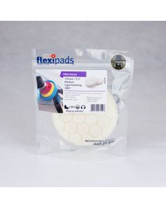 Flexipads World Class - 135mm (5.5 inch) PRO-WHITE Medium Light Polishing Pad