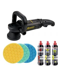 Meguiars MT320 DA Machine Polisher Triple Pad and Polish Bundle