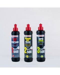 Menzerna 250ml Triple Pack - Heavy Cut 1000, Medium Cut 2500, Super Finish 3500