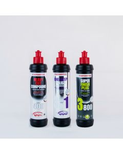 Menzerna 250ml Triple Pack - Heavy Cut 400, 3 in 1 One Step Polish, Super Finish Plus 3800