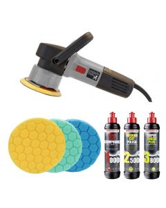Poorboys World PB-DA900 Dual Action Machine Polisher Triple Pad and Polish Bundle