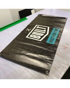 Built - Vinyl Workshop Banner With Built Logo